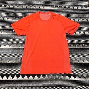 Lululemon Orange Men's Athletic Shirt